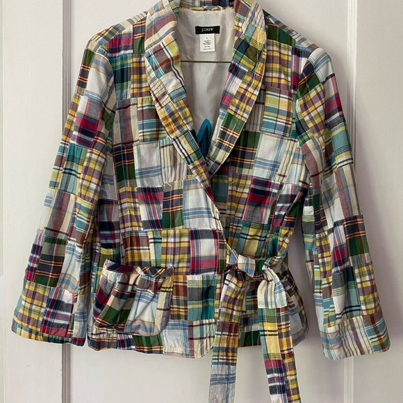 J. Crew Patchwork Jacket